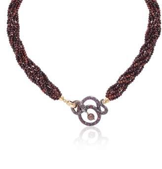 McFarlane Fine Jewellery - Black Snake & Red Tigereye Necklace