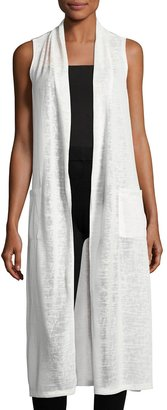 Neiman Marcus Sleeveless Patch-Pocket Duster, Ivory $69 thestylecure.com
