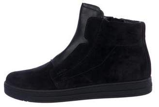 Prada Sport Suede High-Top Sneakers w/ Tags