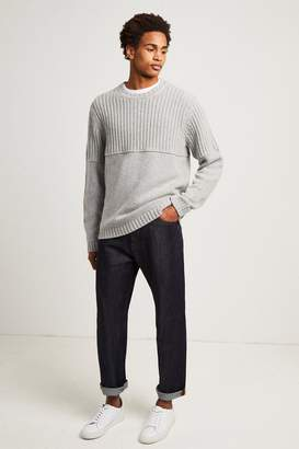 French Connenction Cotton Wool Split Linked Jumper
