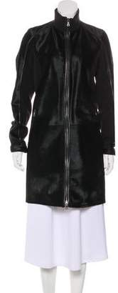 Prada Sport Calf Hair Knee-Length Coat