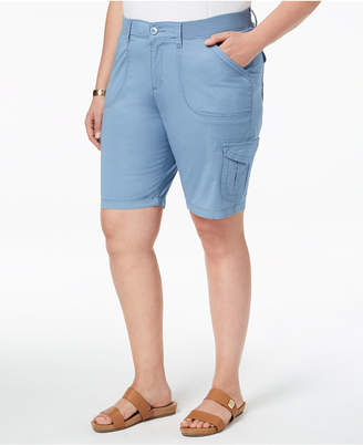 Lee Platinum Plus Size Denim Cargo Shorts