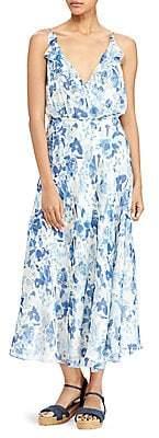 Polo Ralph Lauren Women's Silk Floral Wrap Dress