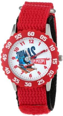 "Thomas & Friends Kids' W000722 ""Time Teacher"" Stainless Steel and Red Nylon Watch"