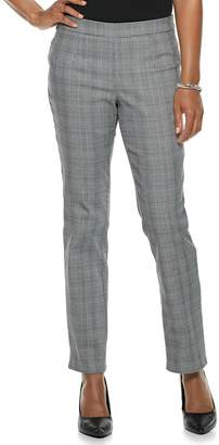Briggs Petite Slim Panel Mid-Rise Pull-On Pants