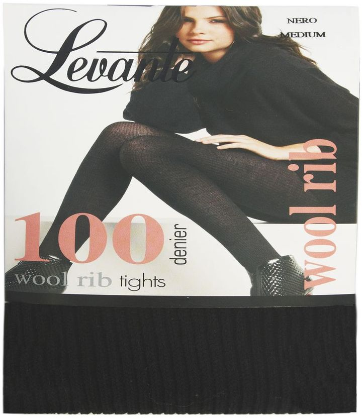 Levante Wool Rib Opaque Tights