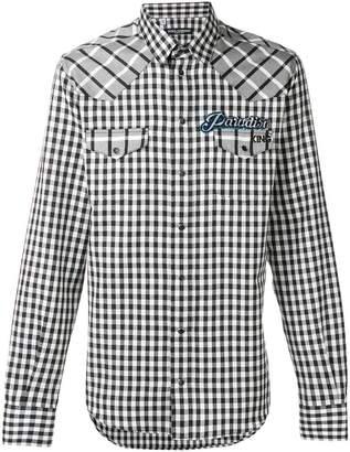 Dolce & Gabbana patch checked shirt