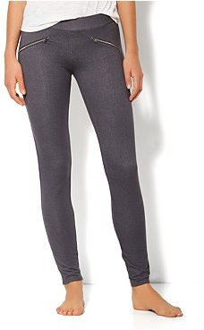 New York & Co. Love, NY&C Collection - Zip-Accent Faux-Denim Legging