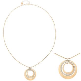 Liz Claiborne Long Crystal & Gold-Tone Pendant Necklace