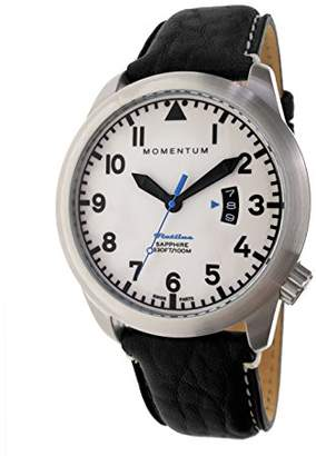 Momentum Men's Swiss Quartz Stainless Steel and Leather Watch
