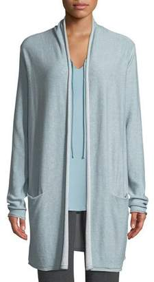 Nic+Zoe Open-Front Two-Pocket Easy-Fit Reversible Traveler Cardigan