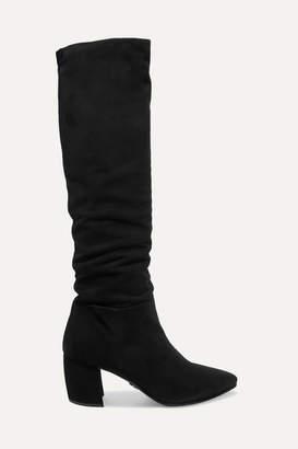 Prada Suede Knee Boots - Black