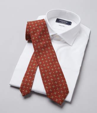 NEWYORKER men's Mantero / シェブロンプリント小紋柄ネクタイ