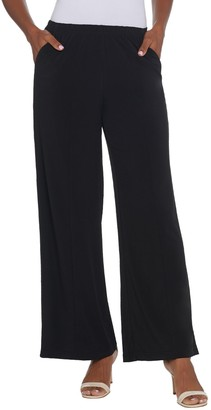 Joan Rivers Classics Collection Joan Rivers Regular Length Pull On Palazzo Pants with Center Seam