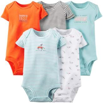 Carter's Baby Boys' 5 Pack Bodysuits (Baby) - 9M