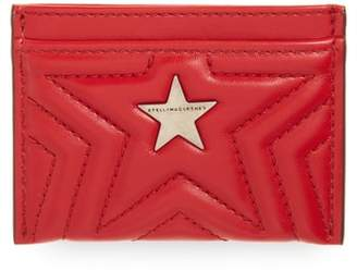 Stella McCartney Star Faux Leather Card Case