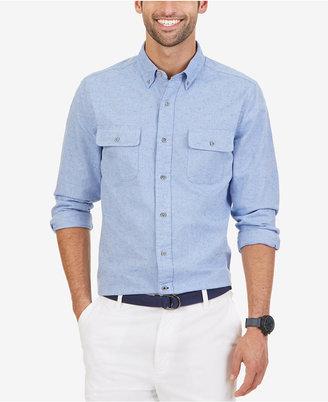 Nautica Men's Slim Fit Double Pocket Oxford Shirt $79.50 thestylecure.com