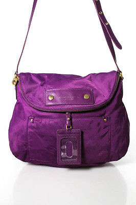 Marc By Marc Jacobs Marc By Marc Jacobs Purple Nylon Gold Accent Medium Shoulder Handbag