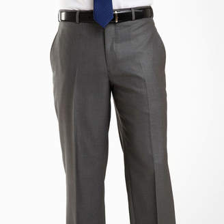 Jf J.Ferrar JF Gray Sharkskin Flat Front Suit Pants-Big & Tall