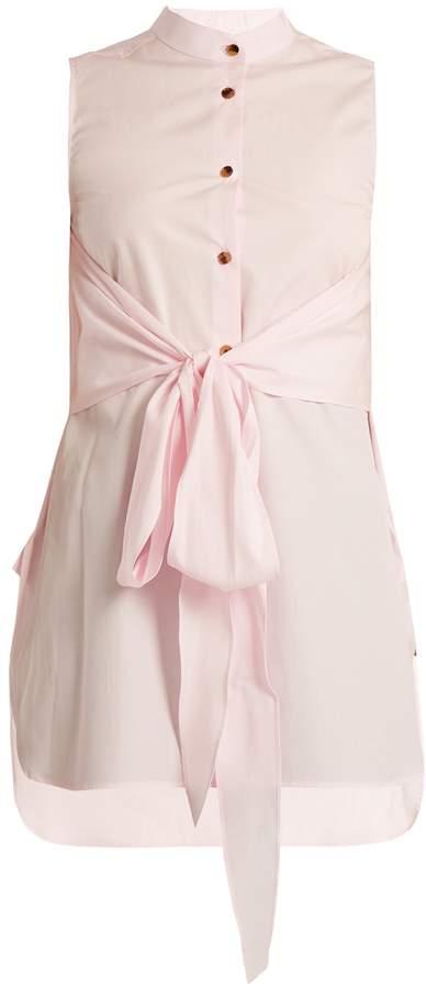 KHAITE Angie sleeveless cotton-poplin shirt