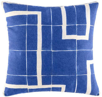 Kas Harvad Blue Square Cushion