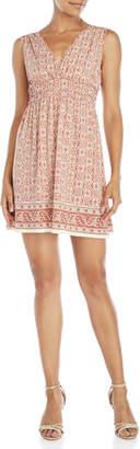 Max Studio Petite Printed Surplice Dress