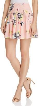 BB Dakota Guiliana Smocked Floral Print Skirt