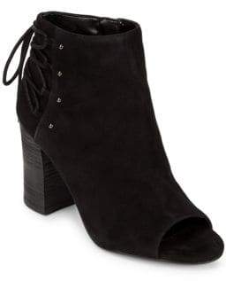 Nine West Leather Beaded Booties