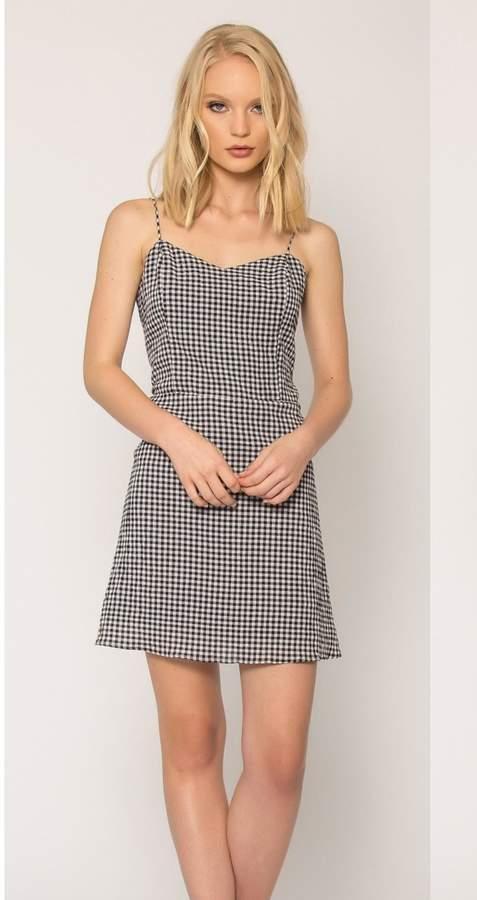 Lavender Brown Mini Dress