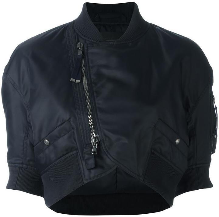 Diesel Black Gold 'Woco' cropped bomber jacket