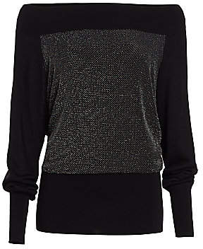 Chiara Boni Women's M-Line Metallic Merino Wool Sweater