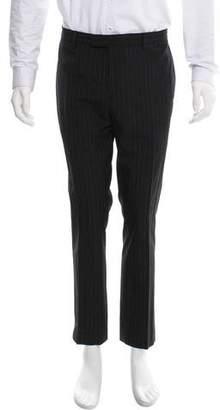 John Varvatos Striped Wool Pants