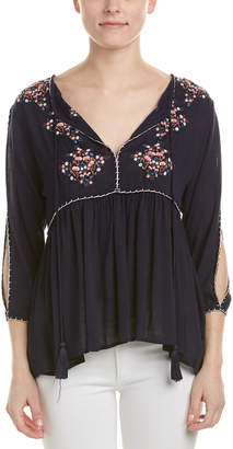 Hummingbird Embroidered Blouse