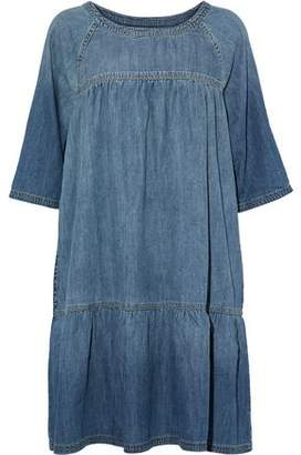 Current/Elliott Gathered Faded Denim Dress