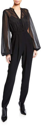 Three floor Empire Long-Sleeve Jumpsuit