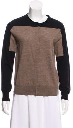 Dries Van Noten Colorblock Wool Cardigan