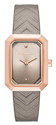 Karl Lagerfeld Women's Linda Quartz Stainless Steel and Leather Casual Watch