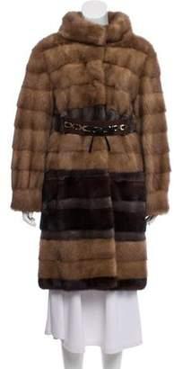 Alberta Ferretti Mink Fur Coat