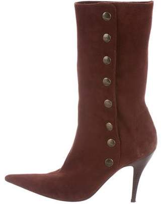 Dolce & Gabbana Suede Pointed-Toe Ankle Boots