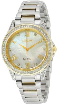 Citizen POV Eco-Drive Mother of Pearl Dial Ladies Watch
