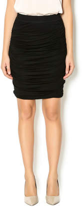 Bishop + Young Black Ruched Skirt