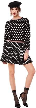 Juicy Couture Polka Dot Jacquard Flirty Skirt