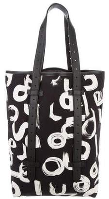 Proenza Schouler Leather-Trimmed Canvas Tote