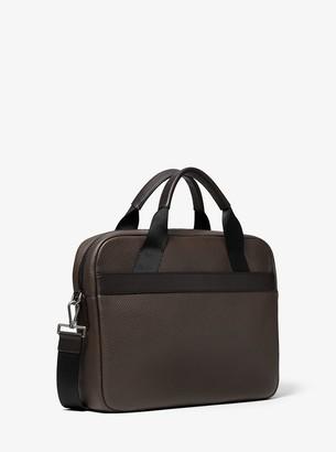 0c7574eba436 Michael Kors Greyson Slim Pebbled Leather Briefcase