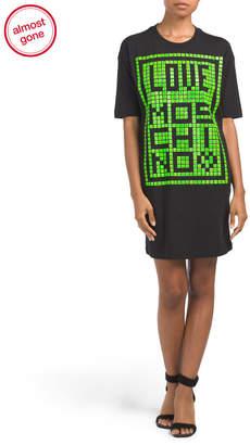 Love Moschino Bead Embellished T-shirt Dress
