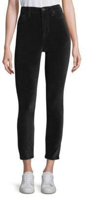 Hudson Barbara High-Rise Velvet Ankle Pants