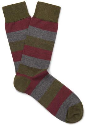 Oliver Spencer Loungewear Miller Striped Stretch Cotton-Blend Socks