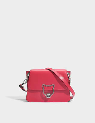 Karl Lagerfeld Kat Lock Crossbody Bag in Ladybird Smooth Calf Leather