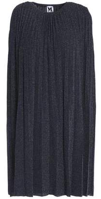 M Missoni Pleated Metallic Knitted Mini Dress