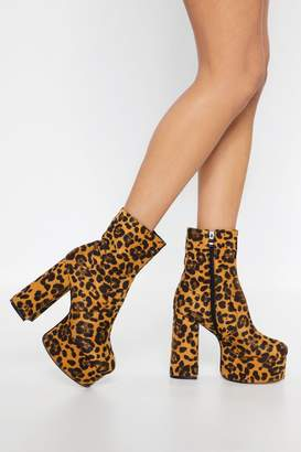 Nasty Gal Platform Your Opinion Leoaprd Boots